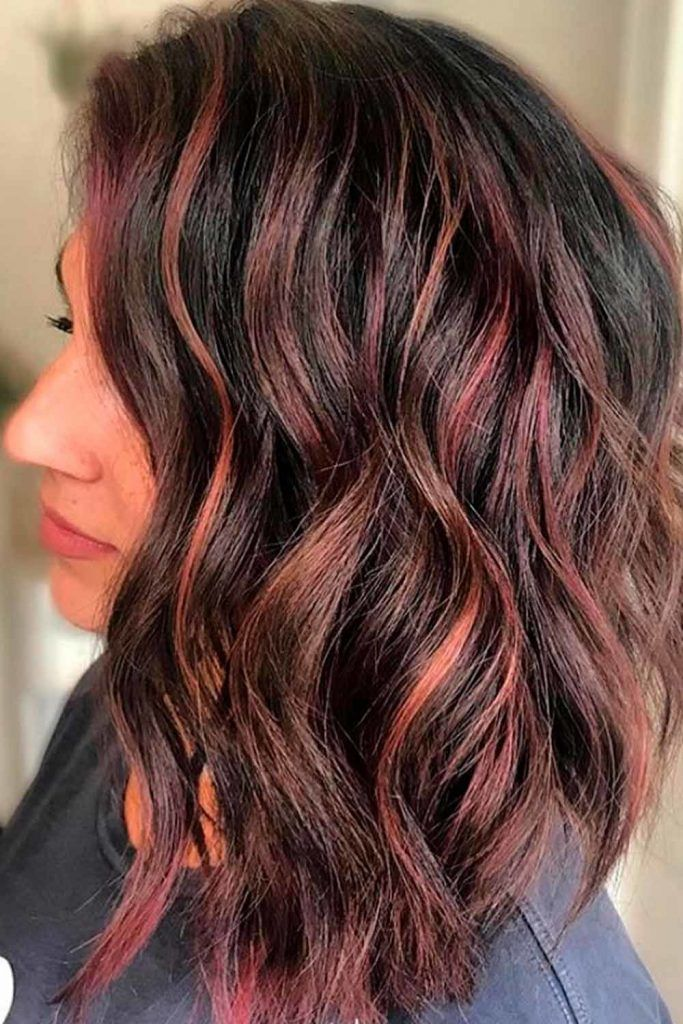 Long Wedge With Highlights