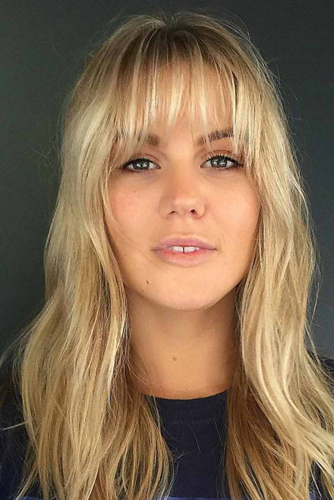 Wispy Bangs With Natural Textured Waves