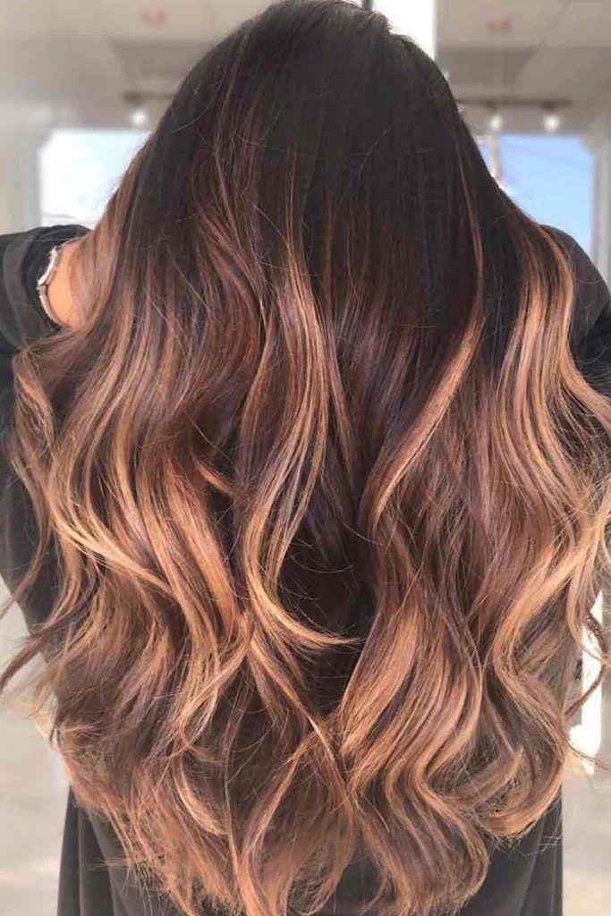 Peach Balayage Hair