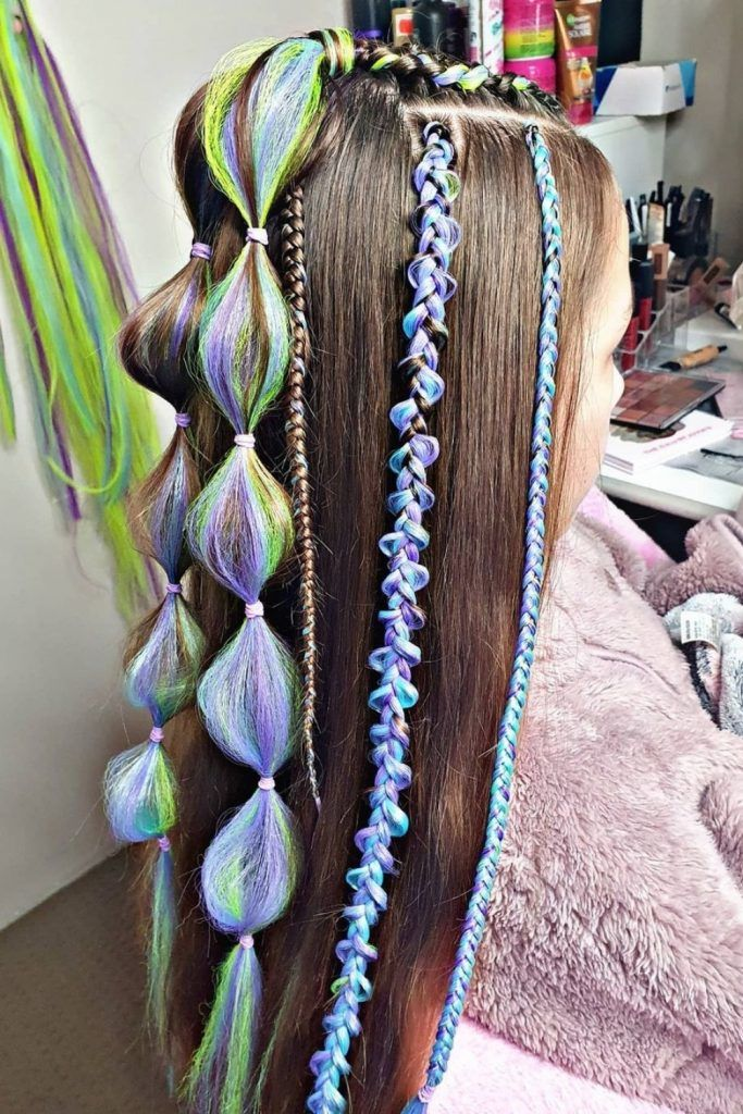 Half-Up Hairstyle With Bubble Accents