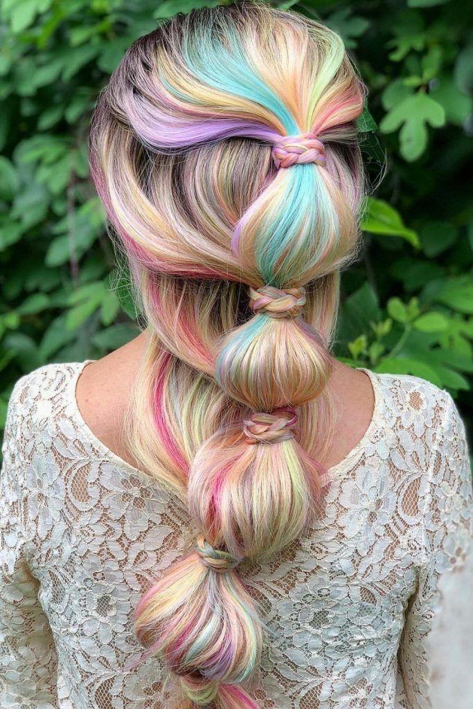 Pastel Rainbow Simple Braid