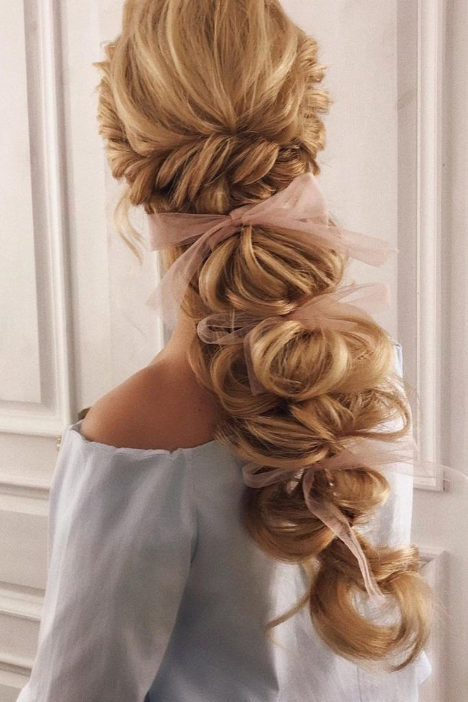 Messy Bubble Hairstyle