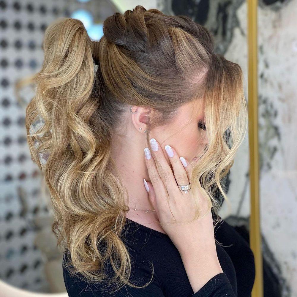 Braided Top ponytail