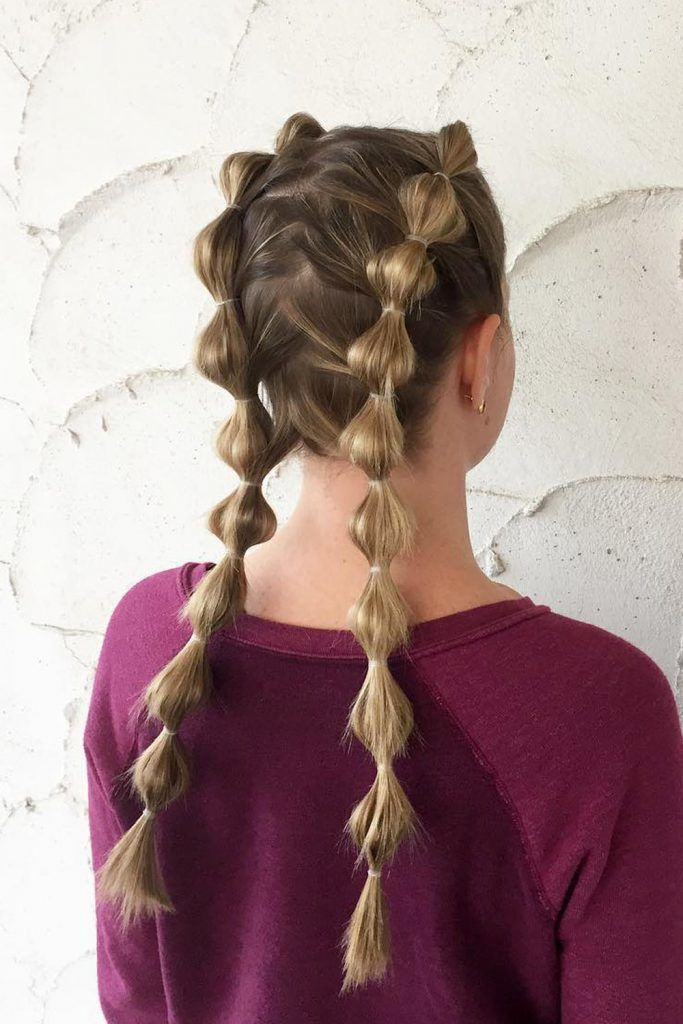 Bubble Boxer Braids for Greasy Hair