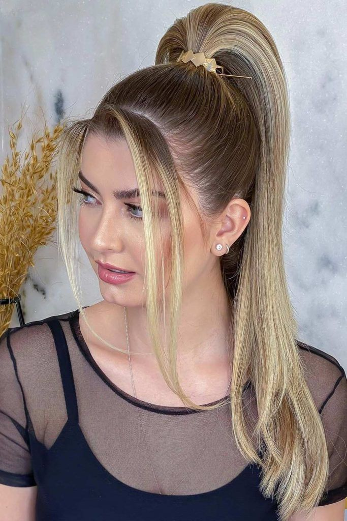 Ponytail for Greasy Hair