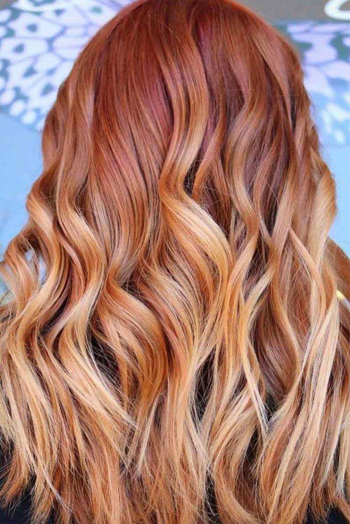 Orange Rose Hair Color