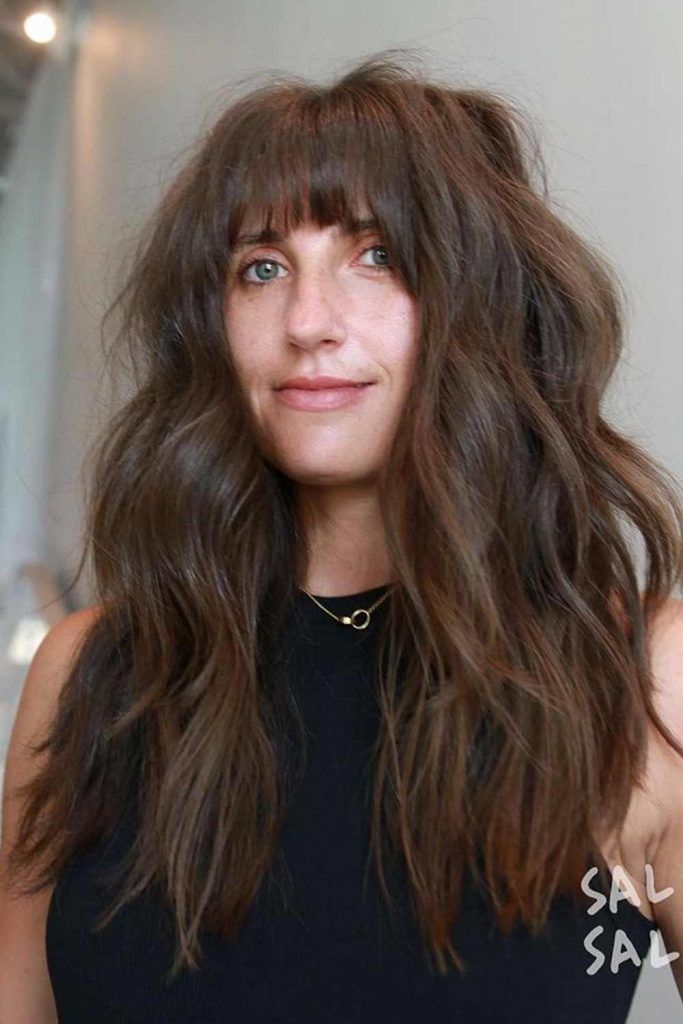 Thinned Arched Bangs Style