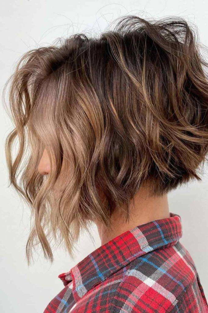 Side Bang Style Idea For Short Bob Haircuts
