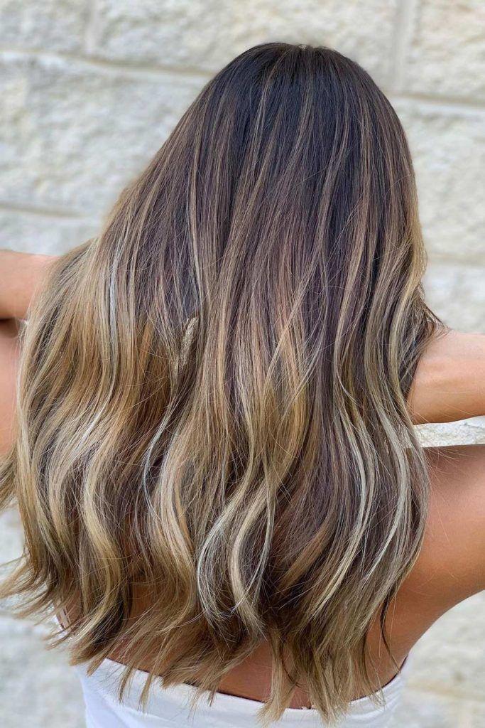 Balayage And Layers Hair Combo