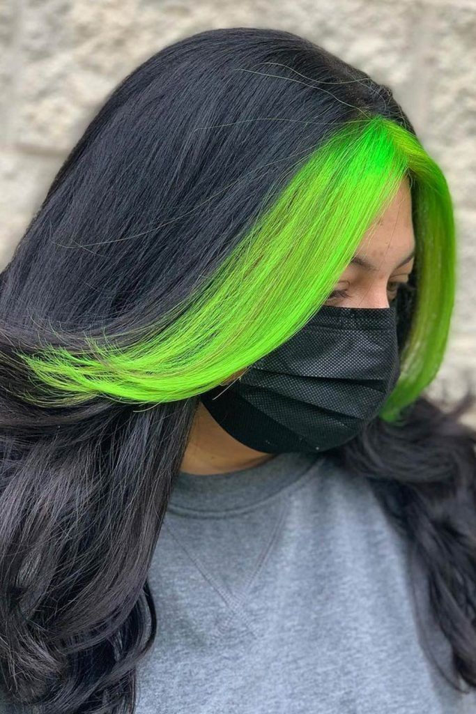 Green Face Fronted Highlights