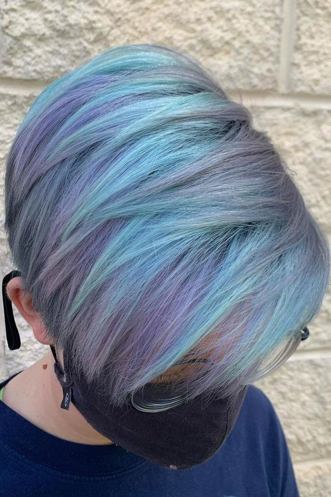Blues and Greens Colors For Short Hair