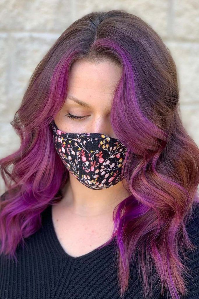 Purple Face Fronted Highlights