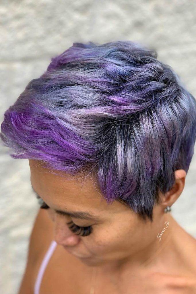 Short Purple Hair Style