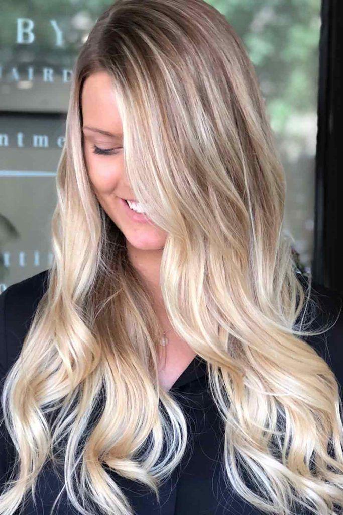 Wheat Blonde Side-Swept Hair