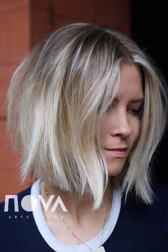 Middle Parted Medium Length Hair