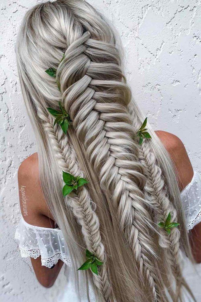 Half Up Dutch Fishtail Braid