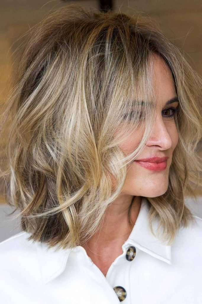 Middle-Parted Messy Textured Bob