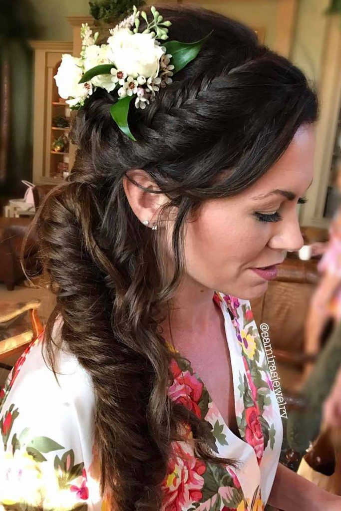 Side Fishtail Braid With Accessories