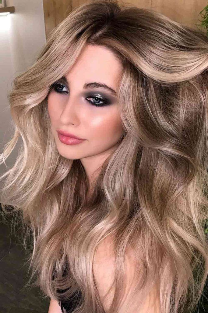 Gold And Platinum Dirty Blonde Ombre