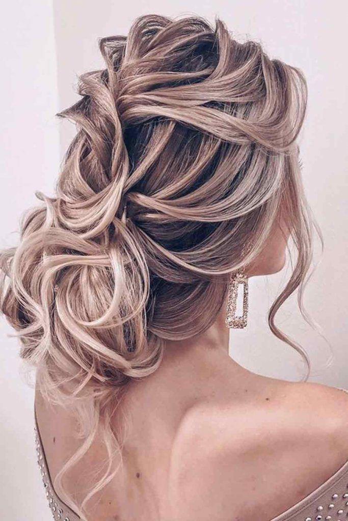 Side Swept Captivating Curls