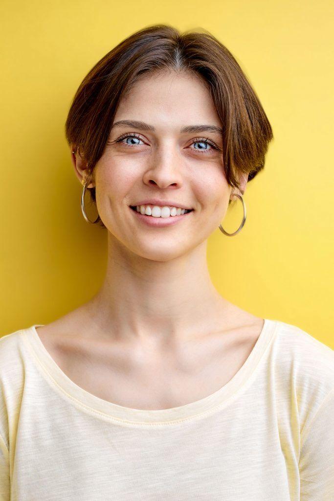 Ear Length Hair Women Haircut