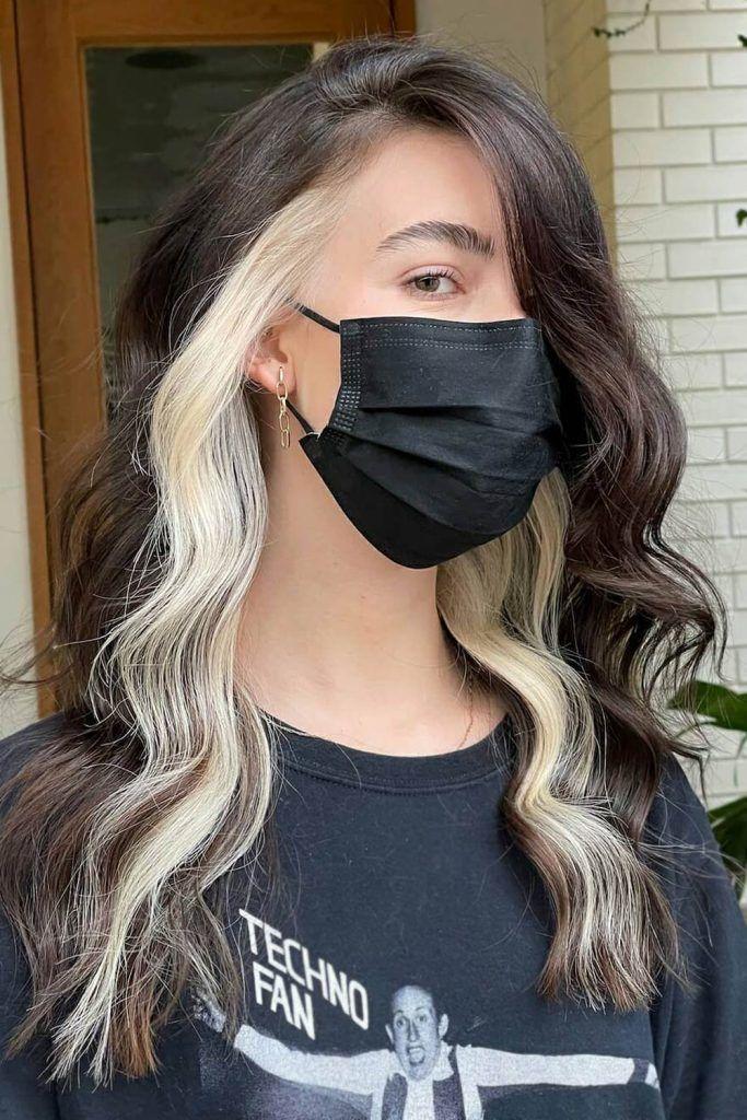 Most Popular Hair Highlight Types: Blonde Peekaboo Highlights