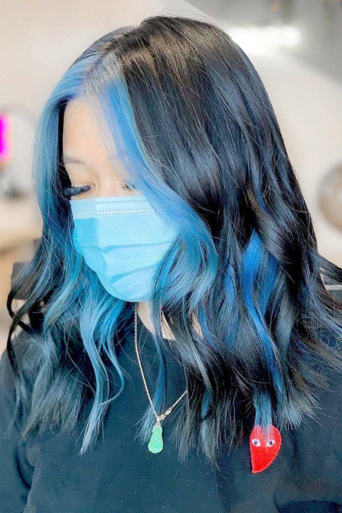 Blue Highlights Hair Ideas