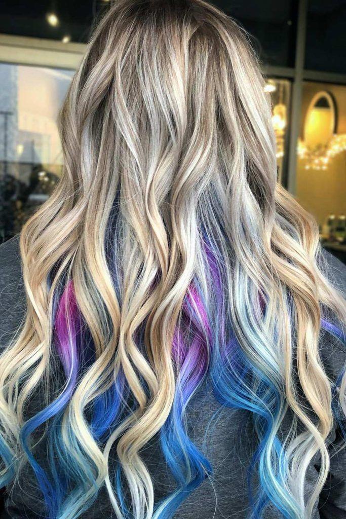 Most Popular Hair Highlight Types: Peekaboo Highlights