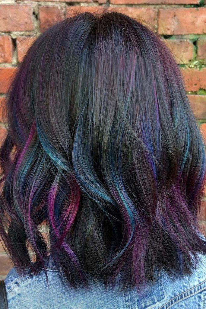 Blue And Purple Highlights Hair Ideas
