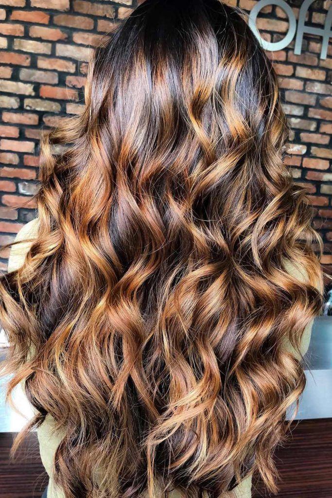 Most Popular Hair Highlight Types: Brown Balayage Highlights