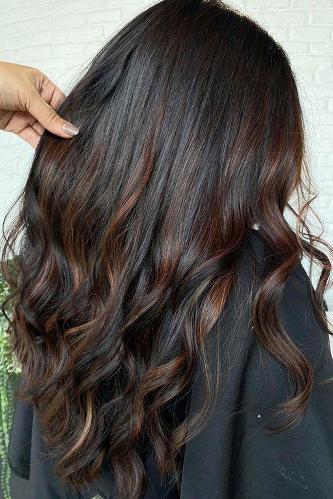 Dark Brown Hair with Brown Highlights
