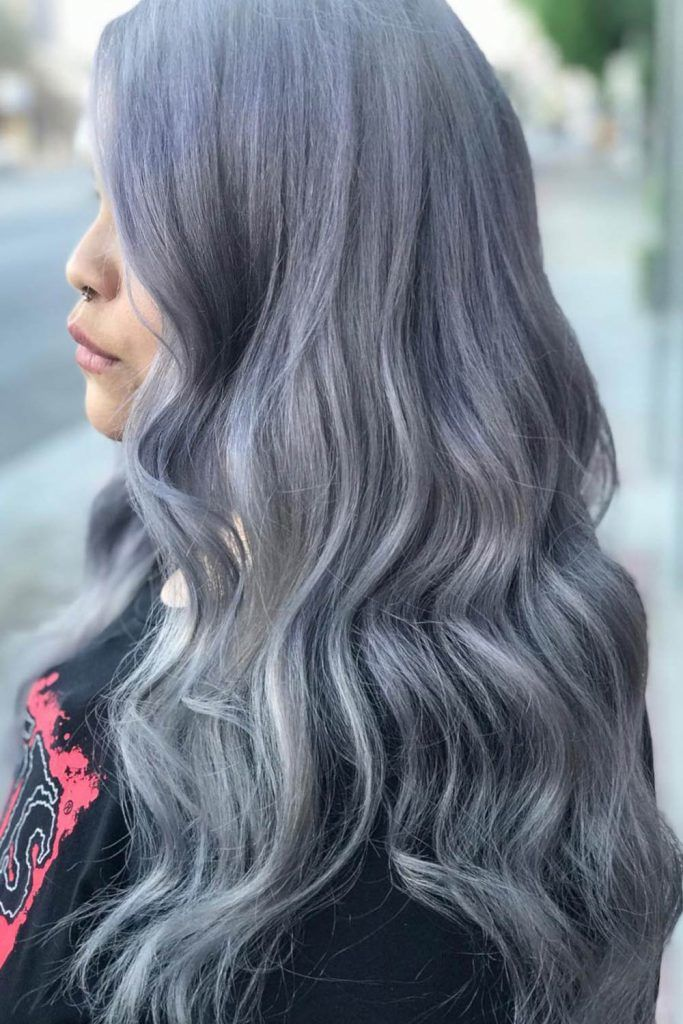 Grey Hair With Highlights