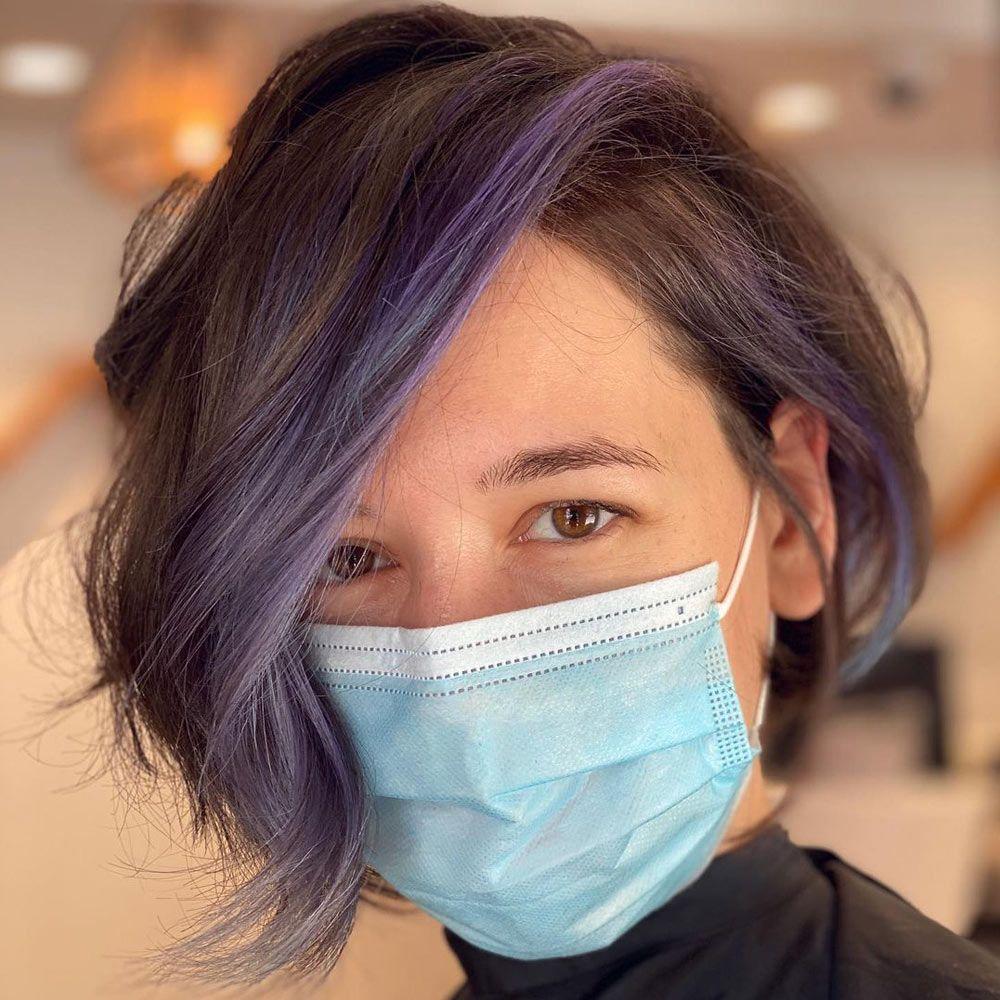 Purple Highlights Hair Ideas