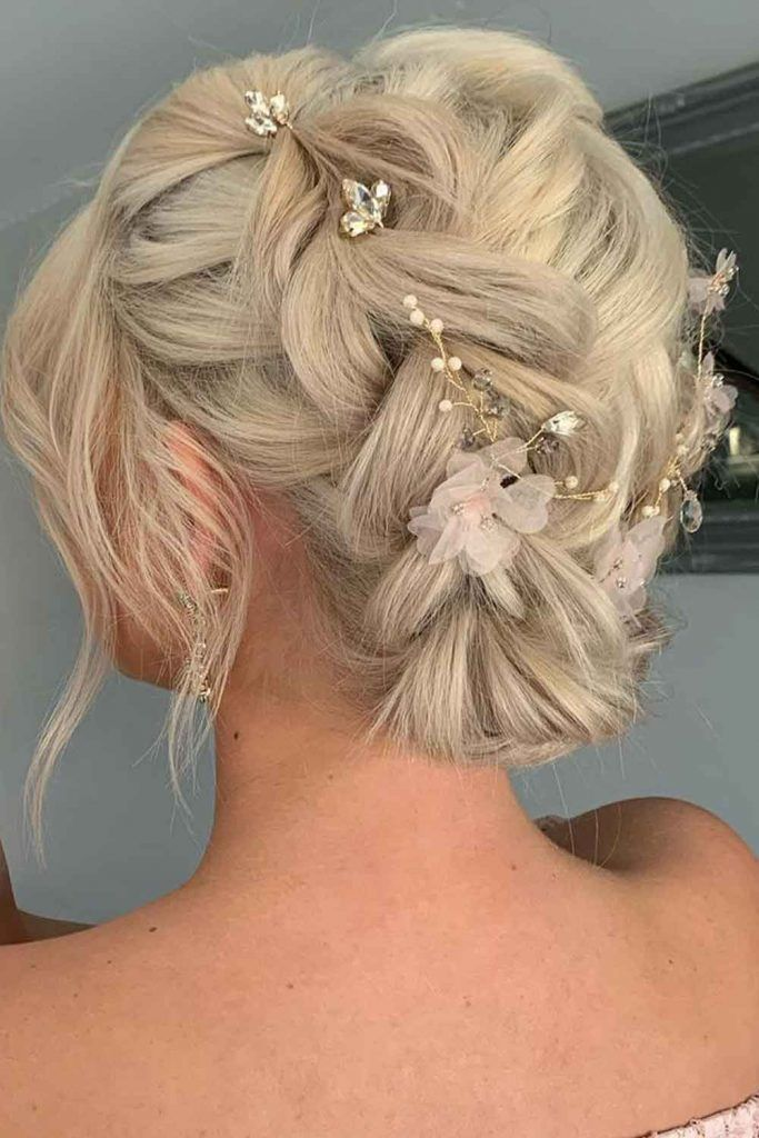 Braided Updo With Hair Accessories