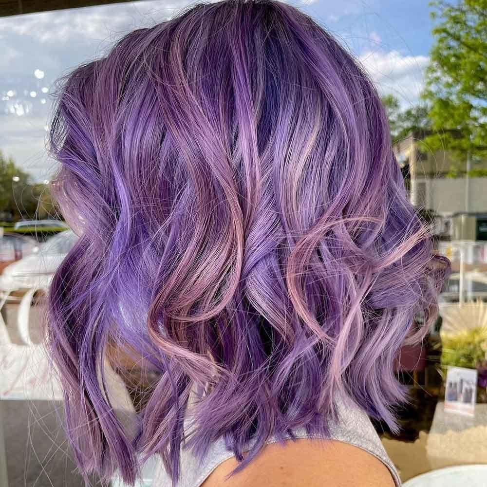 Three Shades Of Purple: Black Purple, Lavender, And Light Lilac