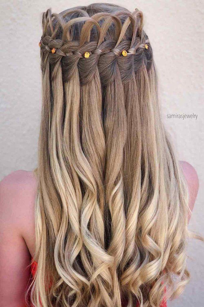 Long Hairstyles Waterfall Braid