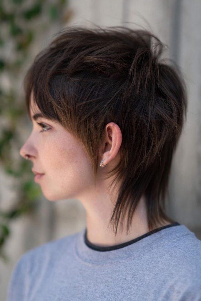 Edgy Short Layered Haircut for Thin Hair