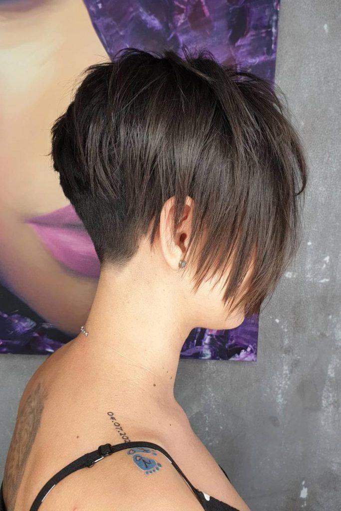 Straight, & Sleek Short Layered Hair