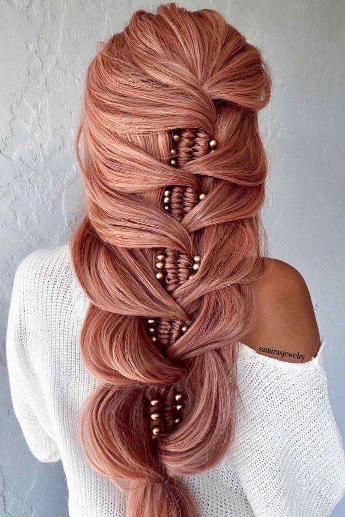 Long Braid With Hair Accessories