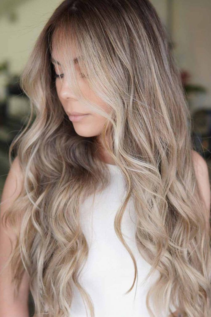 Cool Brown With Blonde Highlights