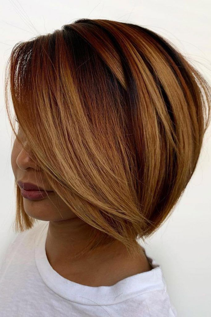 Copper Balayage With Soft Texture