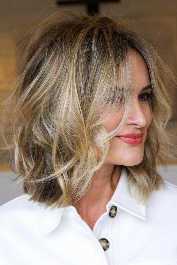 Soft Blunt Bob With Natural Waves