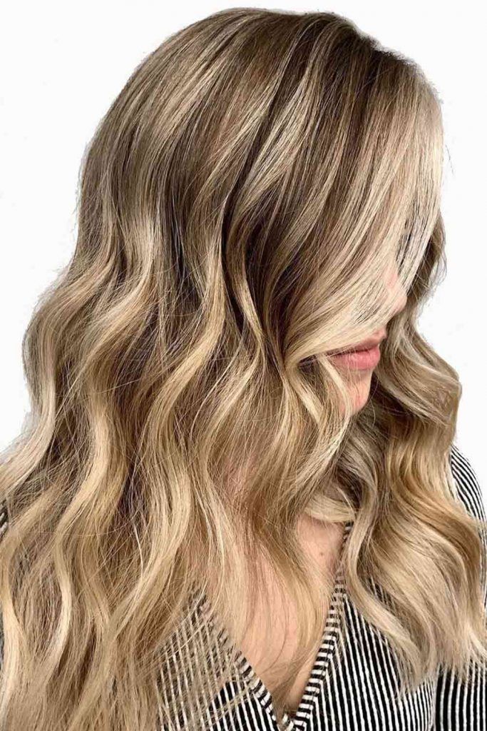 Side Swept Messy Layers