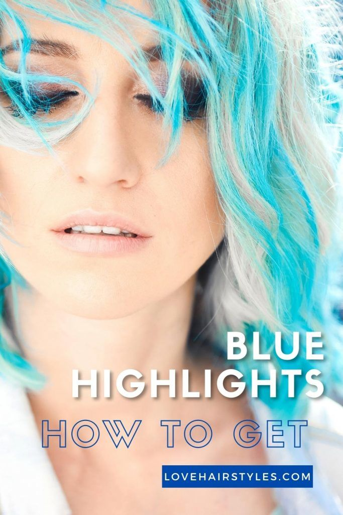 How to Get Blue Highlights on Hair
