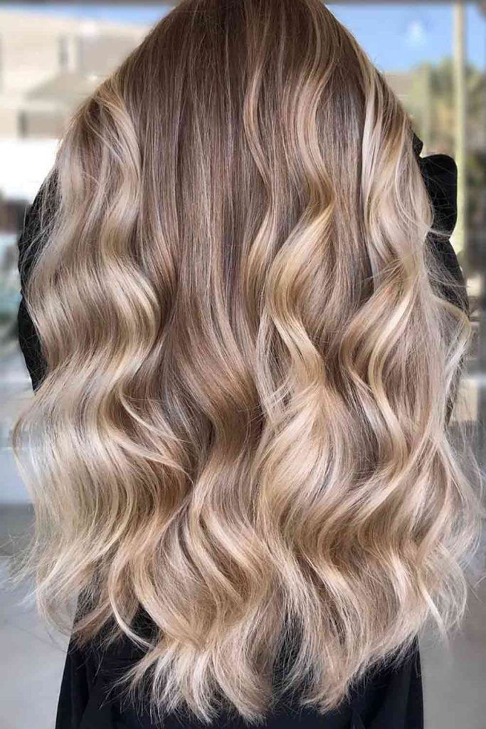 Dirty Blonde Ombre Hair With Long Layers