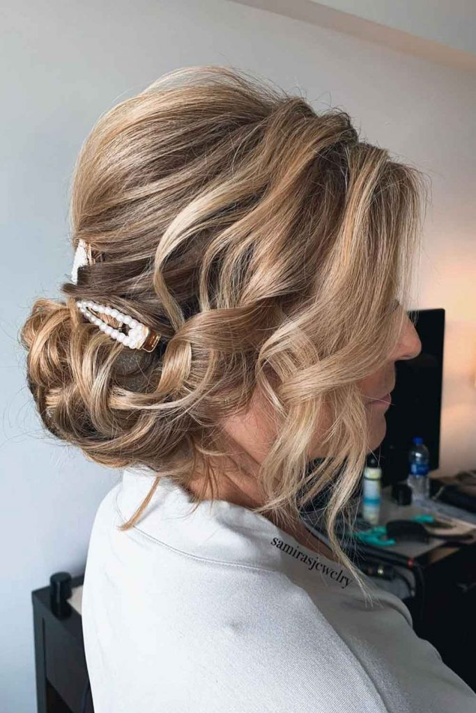 Low Messy Chignon Updo Hairstyles For Thin Hair