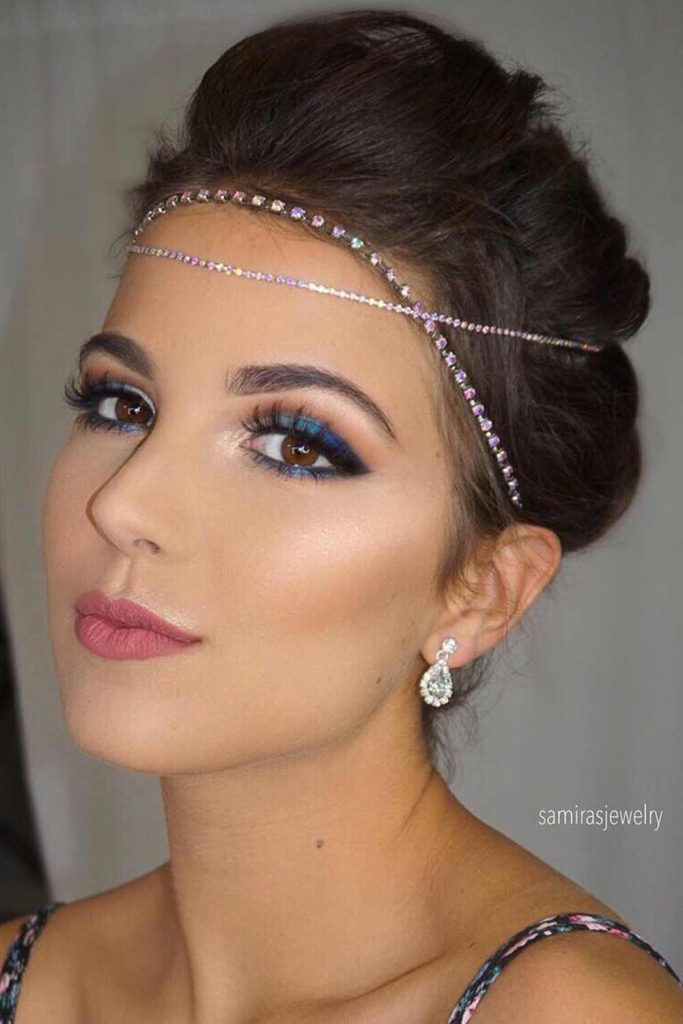 Updo Hairstyle With Accessories