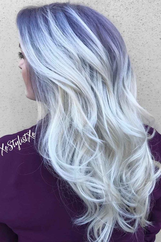 Lavender And Blonde Color Combo