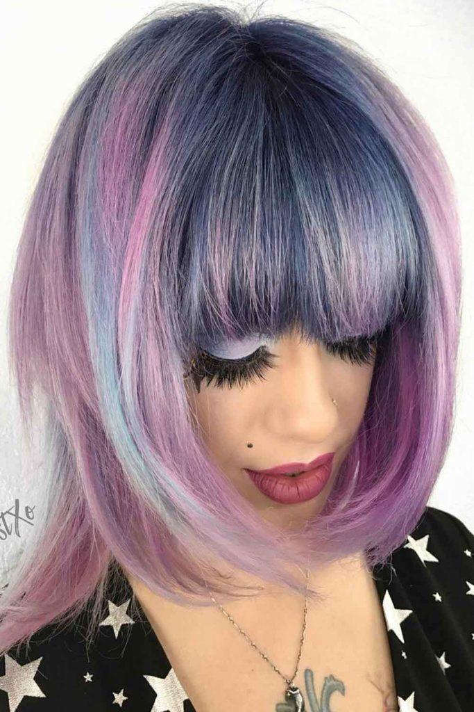 Ash Blue With Lavender Ends