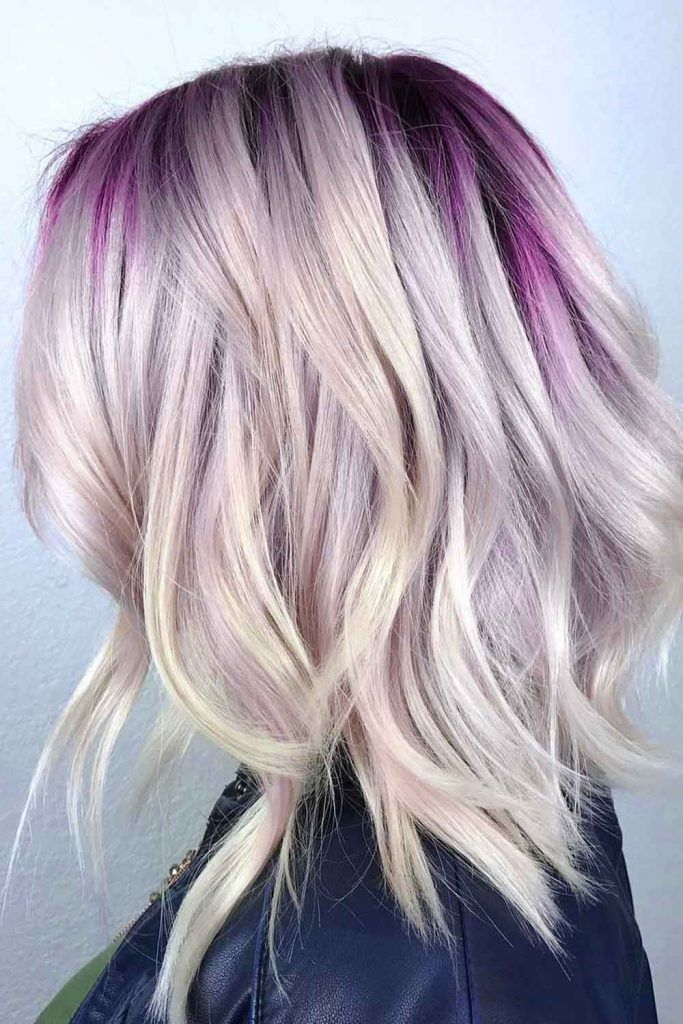 Nude And Lavender Hair